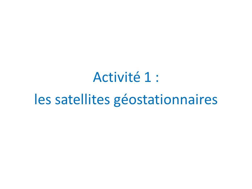 Activité 1 : les satellites géostationnaires