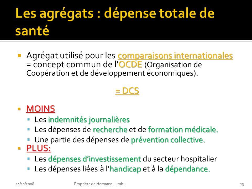 comparaisons internationales OCDE Agrégat utilisé pour les comparaisons internationales = concept commun de lOCDE (Organisation de Coopération et de d