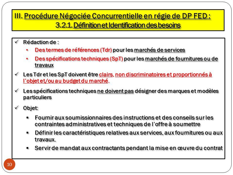 Rédaction de : Rédaction de : Des termes de références (Tdr) pour les marchés de services Des termes de références (Tdr) pour les marchés de services