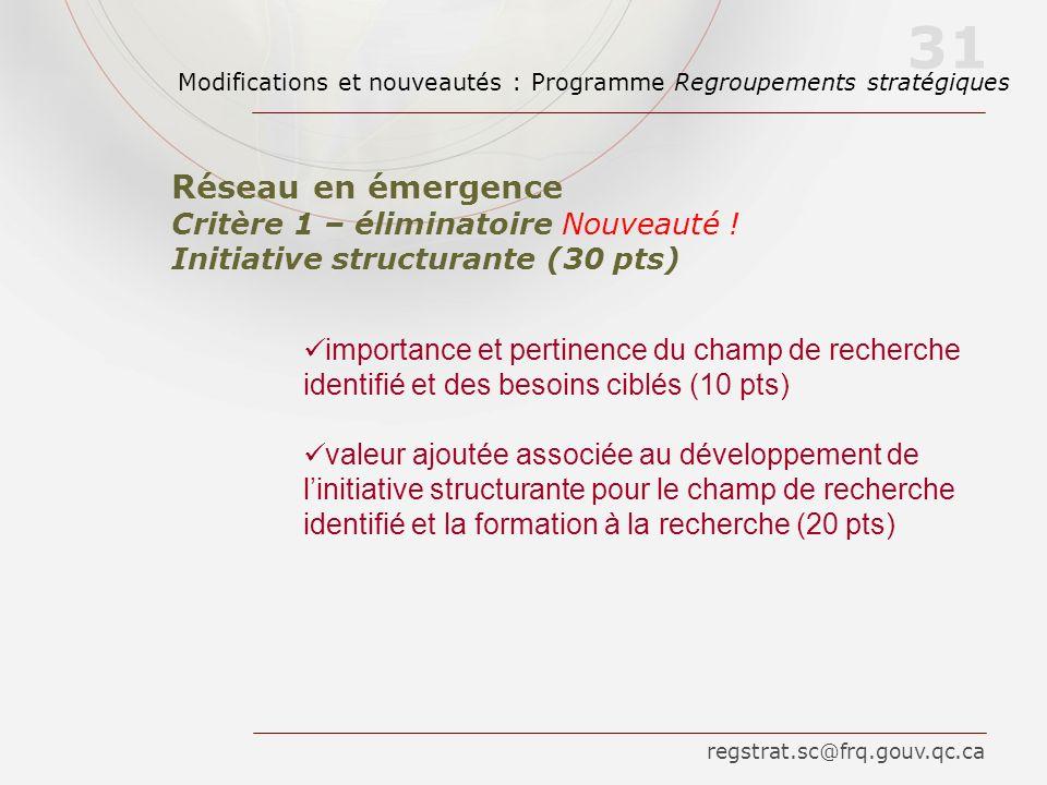 importance et pertinence du champ de recherche identifié et des besoins ciblés (10 pts) valeur ajoutée associée au développement de linitiative struct