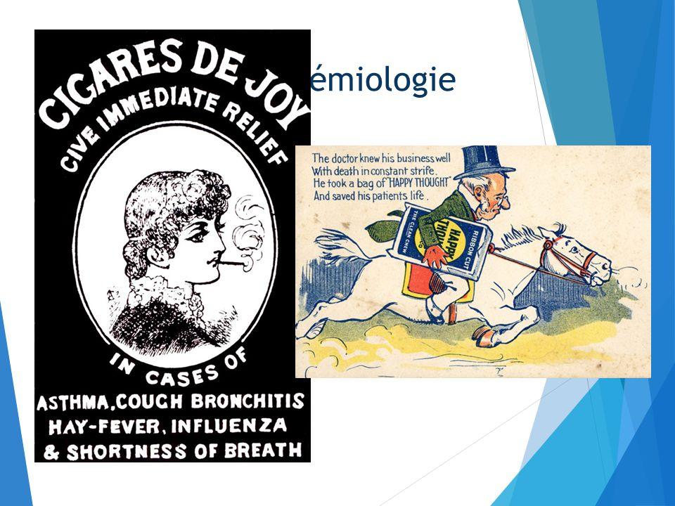 Fin XXème siècle : élargissement du champs de la discipline 1950-57 : Richard Doll, Austin Hill et le cancer du poumon Le tabac comme facteur de risqu