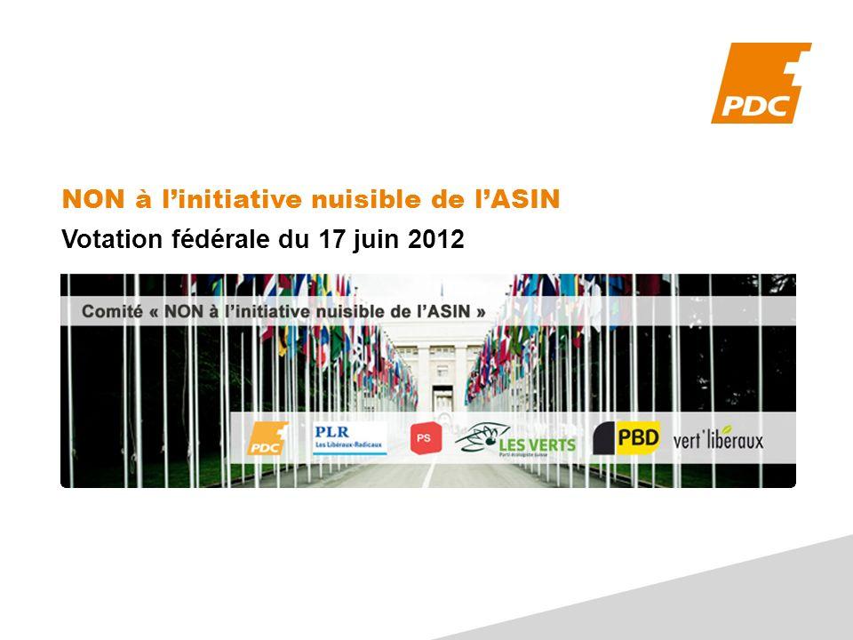 NON à linitiative nuisible de lASIN Votation fédérale du 17 juin 2012