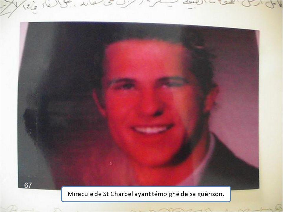 Miraculé de St Charbel ayant témoigné de sa guérison.