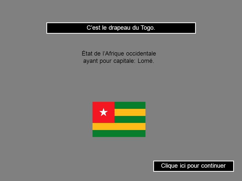 Clique sur le drapeau du Ghana. État dAfrique occidentale ayant pour capitale: Accra.