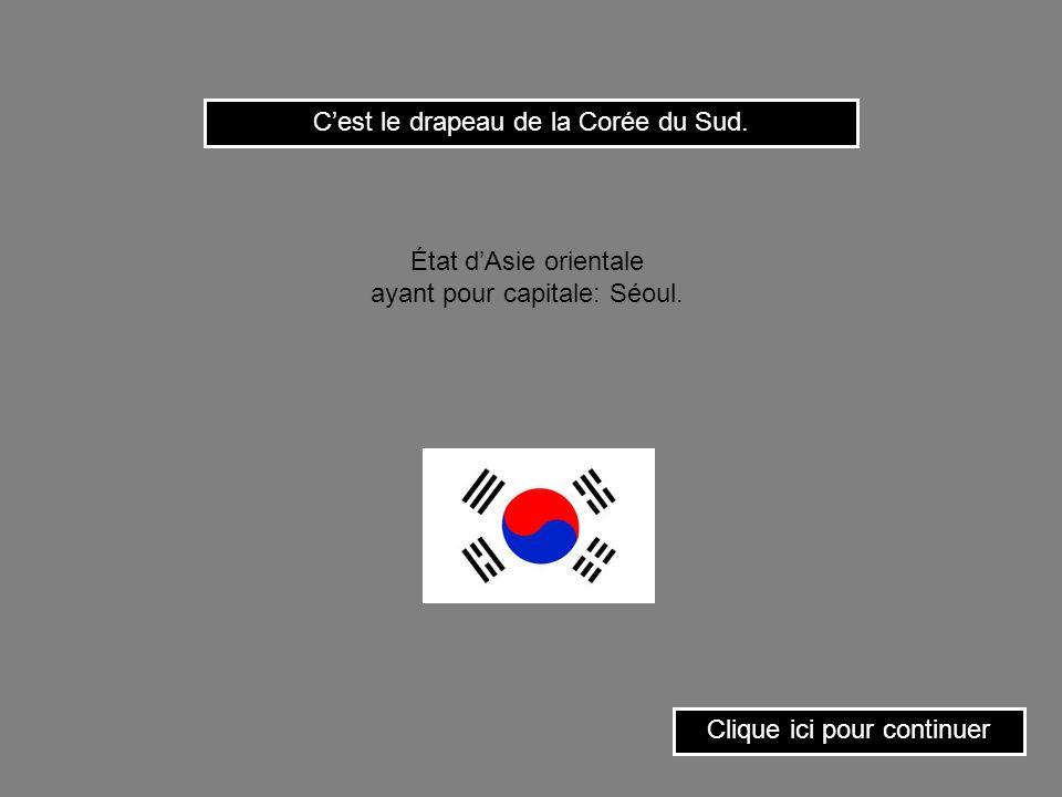 Cest le drapeau du Laos. Clique ici pour continuer État du sud-est asiatique ayant pour capitale: Vientiane.