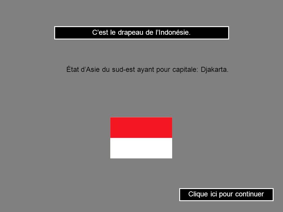 Clique sur le drapeau de Malte. État insulaire de la Méditerranée ayant pour capitale: La Valette.