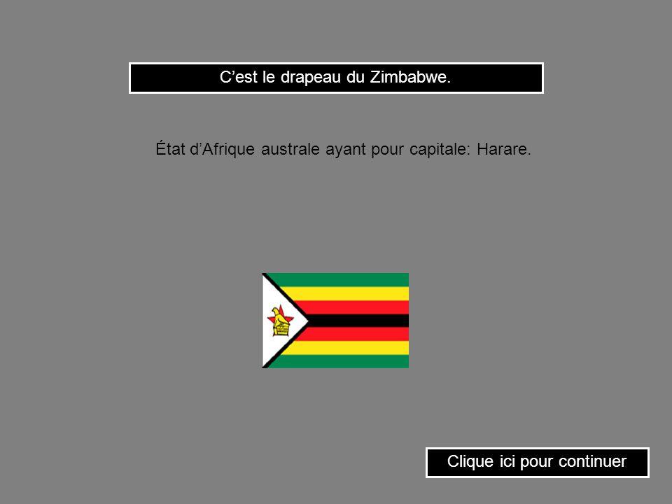 Cest le drapeau de lOuganda. Clique ici pour continuer État dAfrique orientale ayant pour capitale: Kampala.