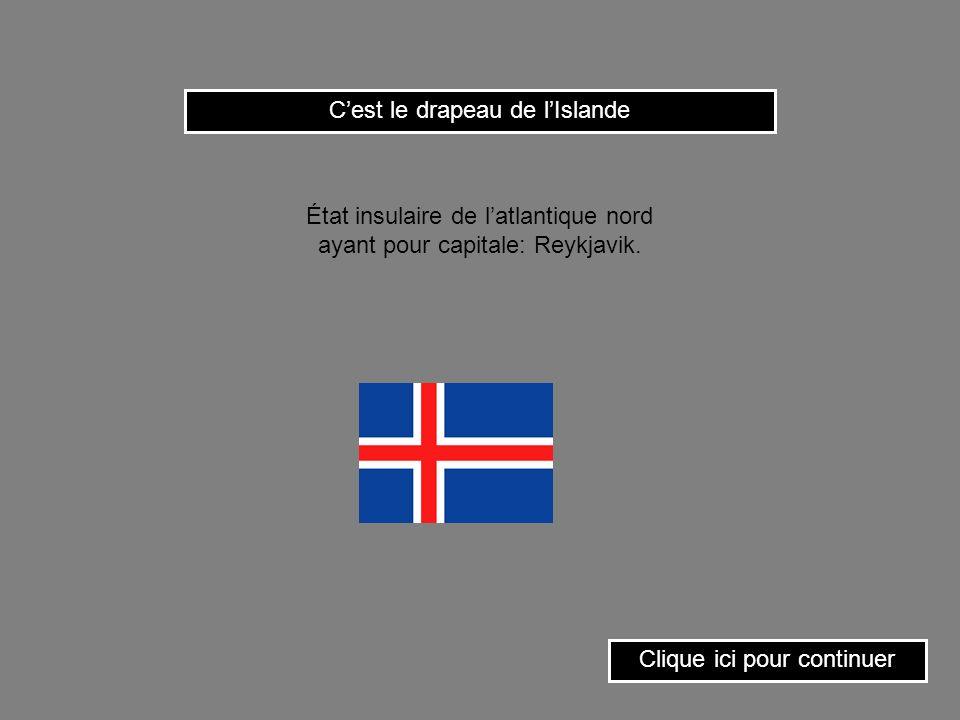 Clique ici pour continuer Cest le drapeau de lAlgérie.