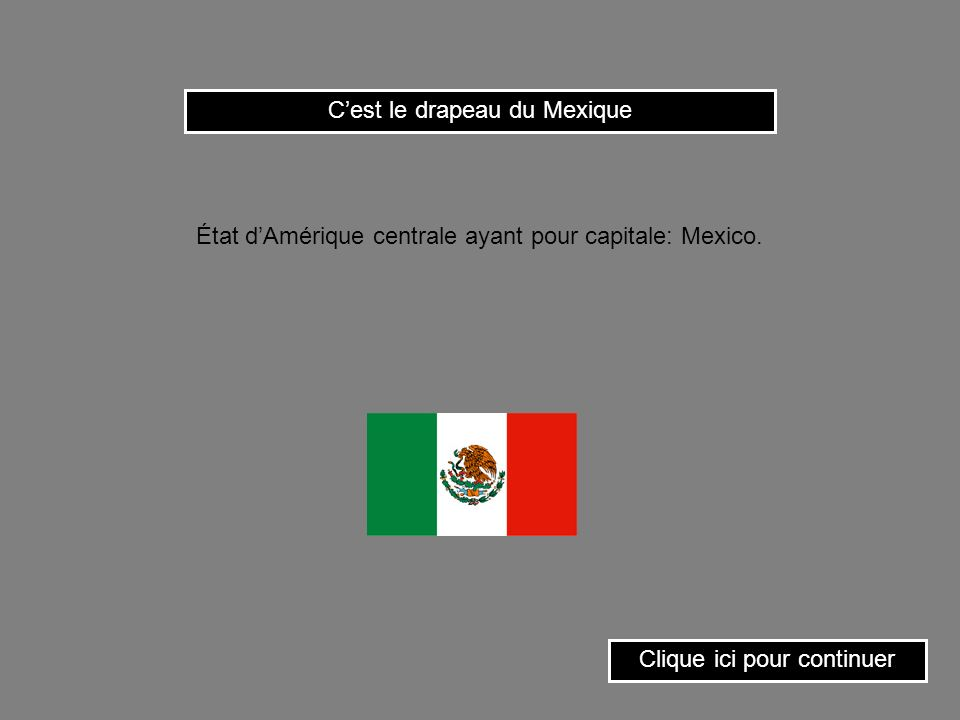 État dAmérique centrale ayant pour capitale: Mexico.