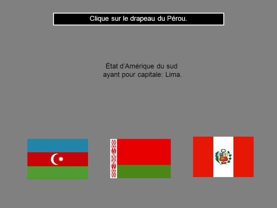 Cest le drapeau du Burundi. Clique ici pour continuer État dAfrique centrale ayant pour capitale: Bujumbura.