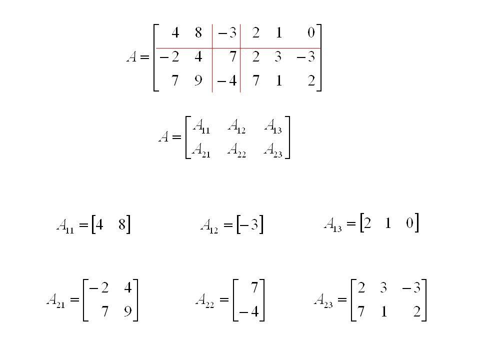 Opérations sur les matrices bloc A + B : on additionne bloc par bloc.