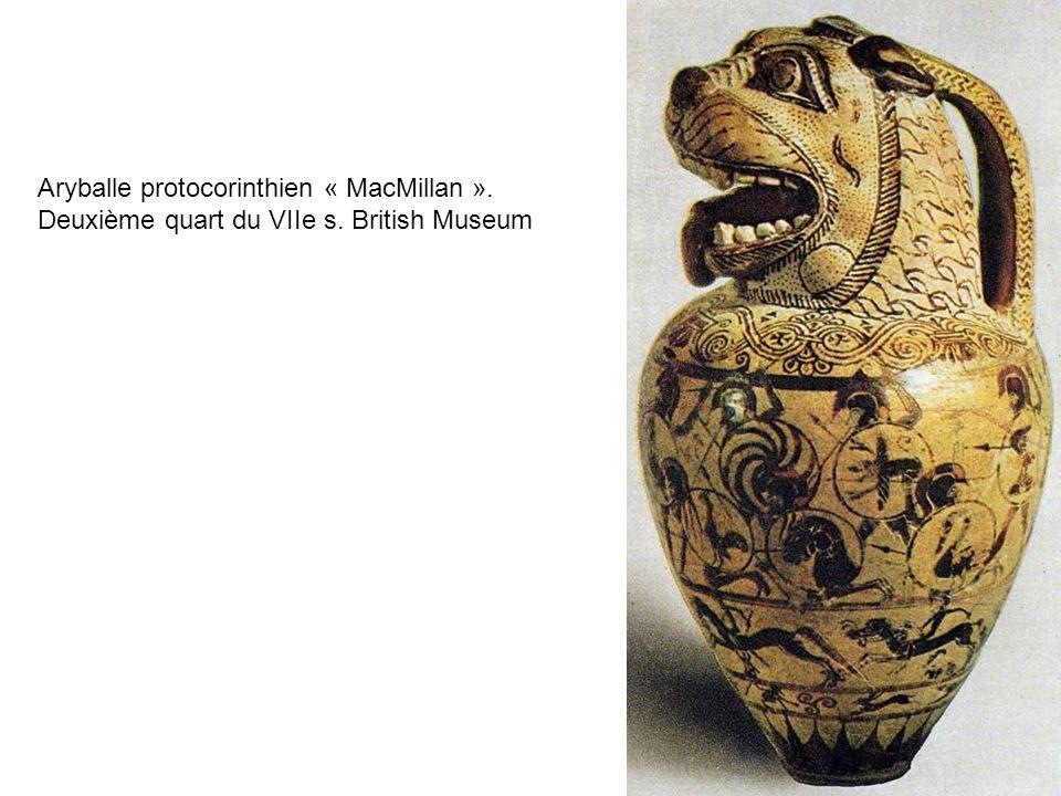 Aryballe protocorinthien « MacMillan ». Deuxième quart du VIIe s. British Museum