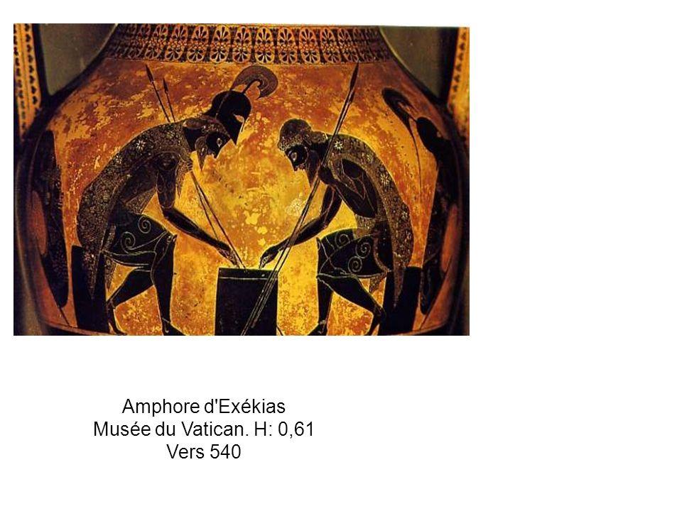 Amphore d'Exékias Musée du Vatican. H: 0,61 Vers 540