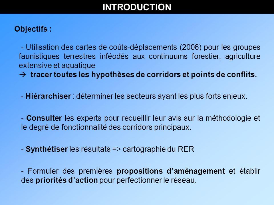 INTRODUCTION Objectifs : - Hiérarchiser : déterminer les secteurs ayant les plus forts enjeux.