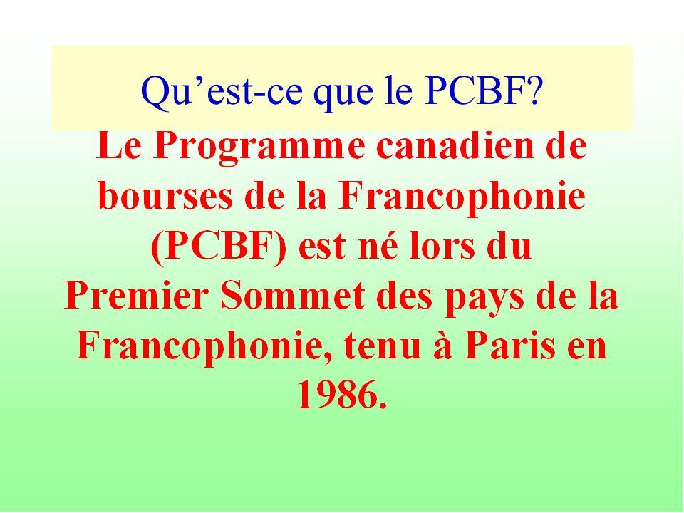 Quest-ce que le PCBF