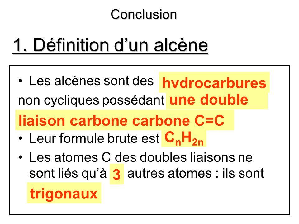 2.COMMENT NOMMER UN ALCÈNE . 1 er problème : quel nom donner à ces deux molécules .