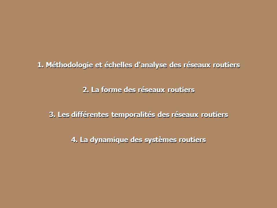 Les 3 échelles d'étude des réseaux viaires en Val-d'Oise 1. Méthodologie et échelles d'analyse des réseaux routiers 2. La forme des réseaux routiers 3