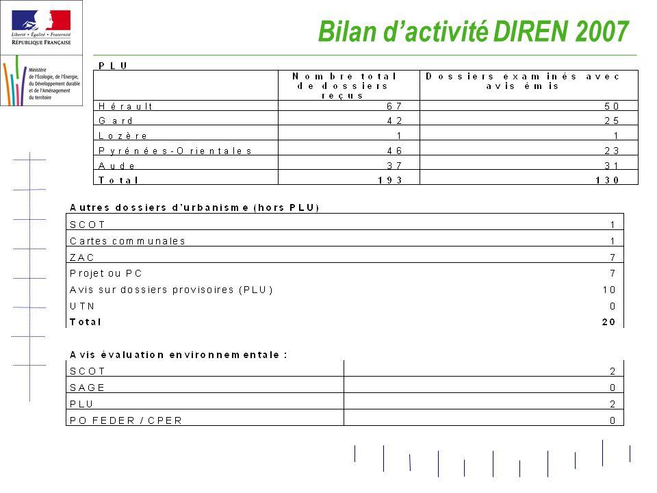 Bilan dactivité DIREN 2007
