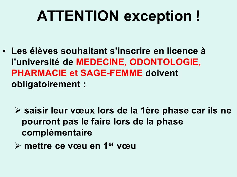 ATTENTION exception .