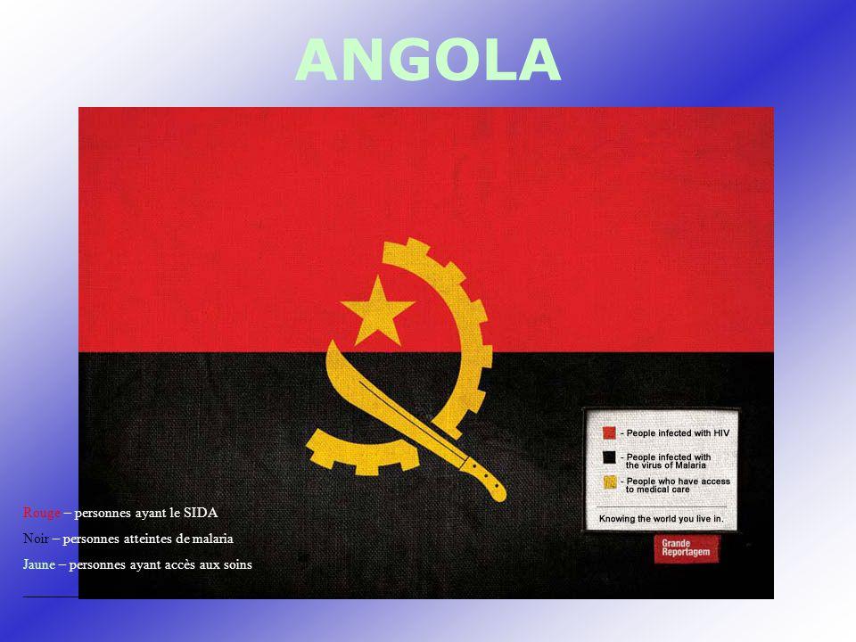 ANGOLA Rouge – personnes ayant le SIDA Noir – personnes atteintes de malaria Jaune – personnes ayant accès aux soins _________________________________