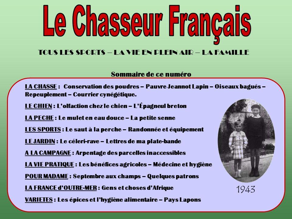 Quand le « Chasseur Français » était ma lecture préférée