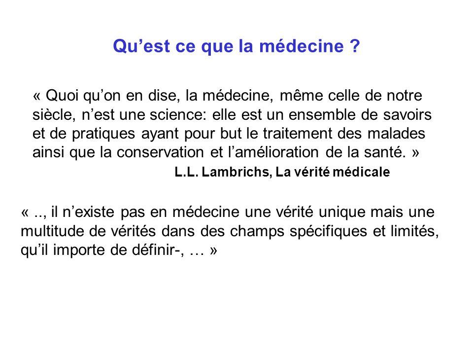 Quest ce que la médecine .