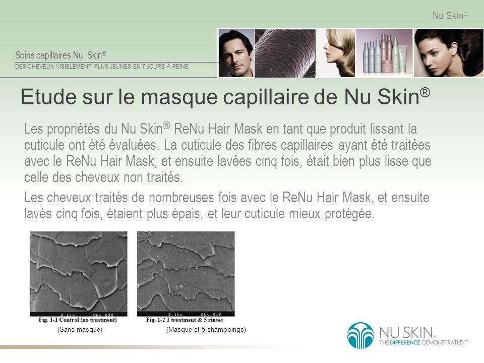 Soins capillaires Nu Skin ® DES CHEVEUX VISIBLEMENT PLUS JEUNES EN 7 JOURS À PEINE Nu Skin ® Etude sur le masque capillaire de Nu Skin ® Les propriété