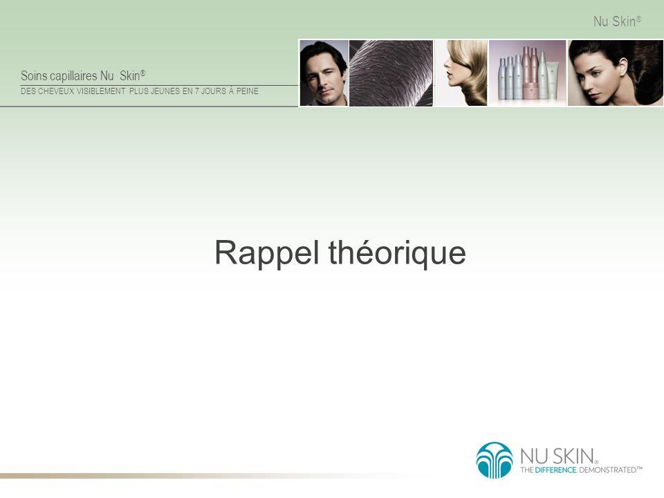 Soins capillaires Nu Skin ® DES CHEVEUX VISIBLEMENT PLUS JEUNES EN 7 JOURS À PEINE Nu Skin ® Rappel théorique