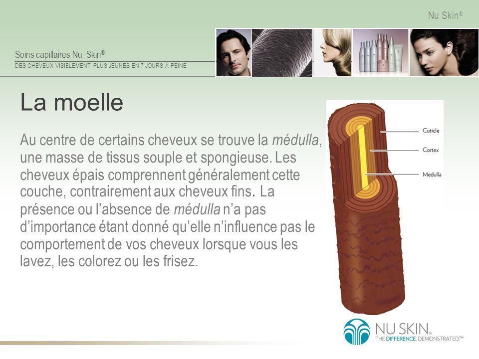 Soins capillaires Nu Skin ® DES CHEVEUX VISIBLEMENT PLUS JEUNES EN 7 JOURS À PEINE Nu Skin ® La moelle Au centre de certains cheveux se trouve la médu