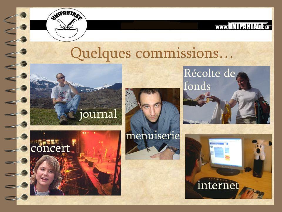 Quelques commissions… journal menuiserie concert Récolte de fonds internet