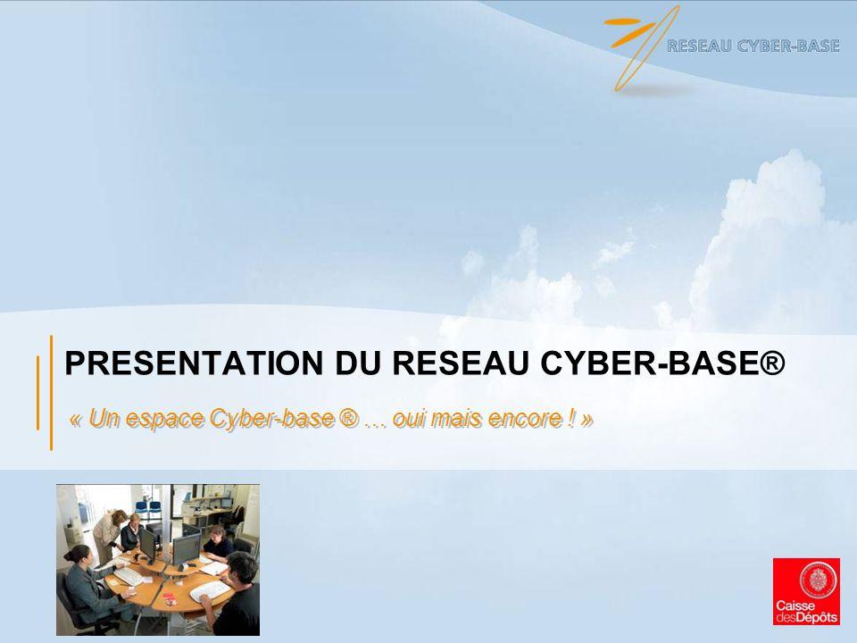 PRESENTATION DU RESEAU CYBER-BASE® « Un espace Cyber-base ® … oui mais encore ! »