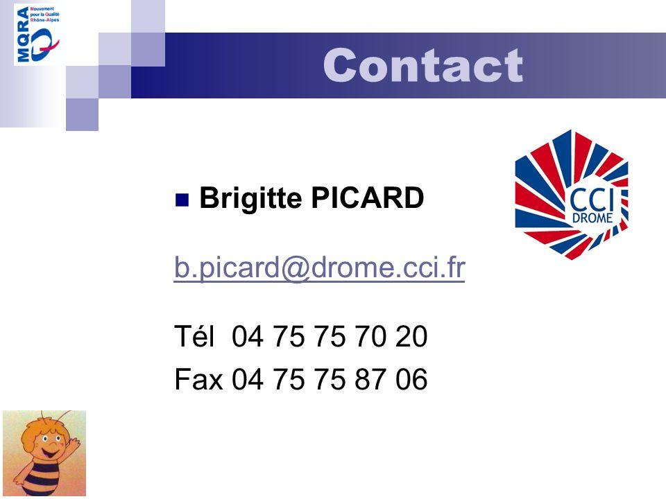 Contact Brigitte PICARD b.picard@drome.cci.fr Tél 04 75 75 70 20 Fax 04 75 75 87 06