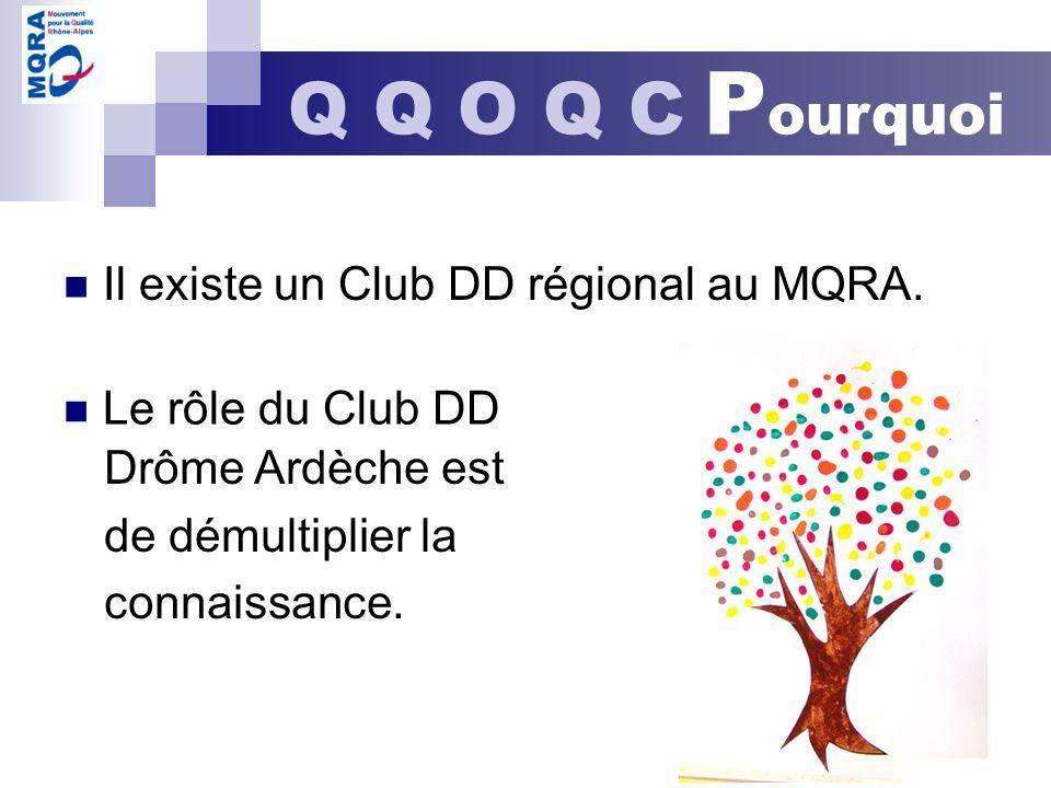 Q Q O Q C P ourquoi Drôme Ardèche est de démultiplier la connaissance. Il existe un Club DD régional au MQRA. Le rôle du Club DD