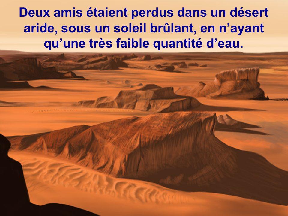 Il lui répondit alors : « Jai écrit sur le sable que tu mavais frappé, mais jai gravé dans la pierre que tu mavais sauvé.