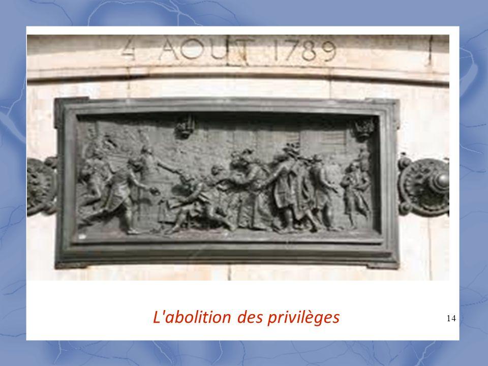 14 L'abolition des privilèges