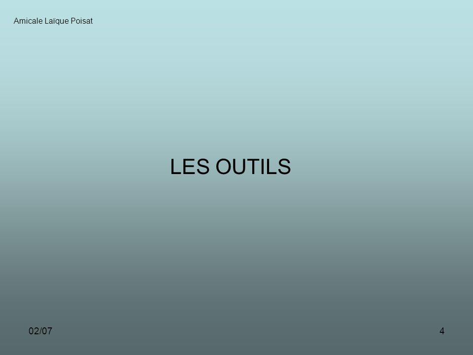 02/074 LES OUTILS Amicale Laïque Poisat