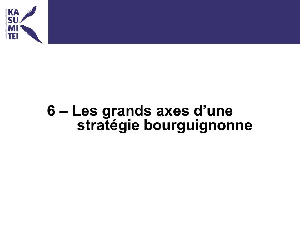 6 – Les grands axes dune stratégie bourguignonne