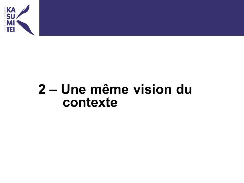 2 – Une même vision du contexte