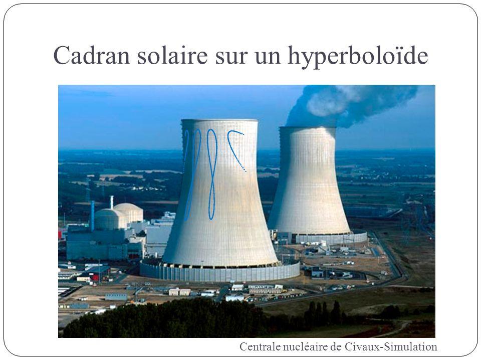 Cadran solaire sur un hyperboloïde Centrale nucléaire de Civaux-Simulation