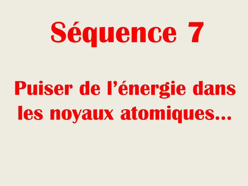 Séquence 7 Puiser de lénergie dans les noyaux atomiques…