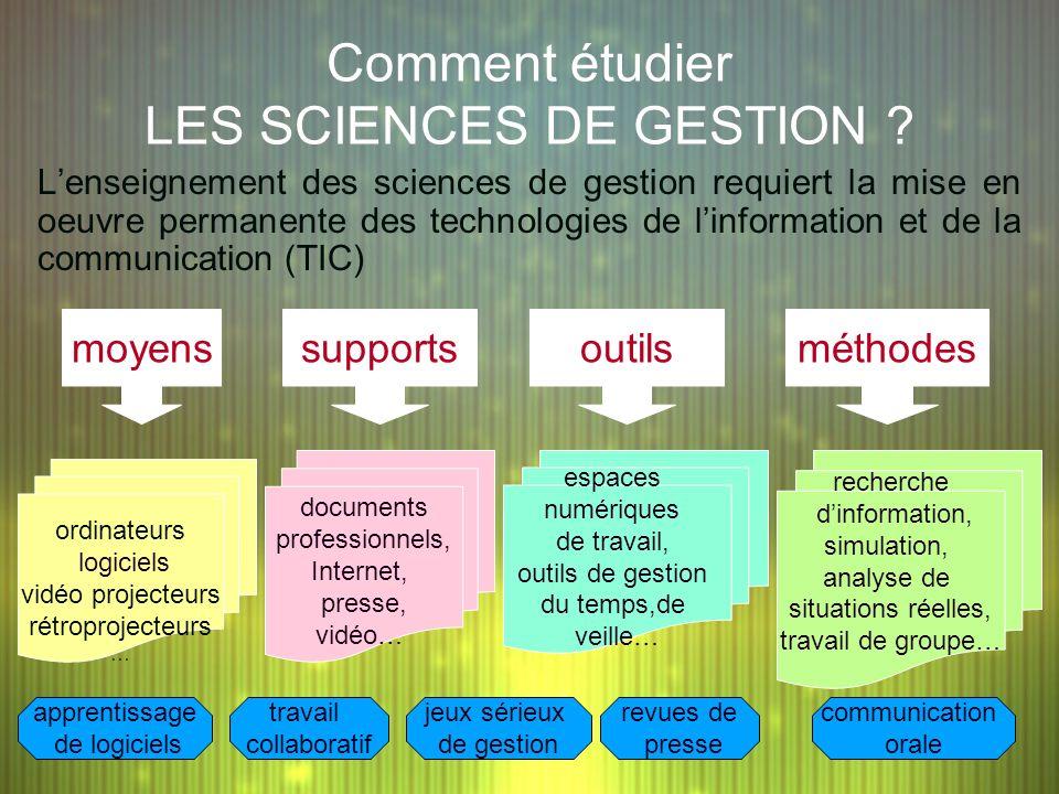 Lenseignement des sciences de gestion requiert la mise en oeuvre permanente des technologies de linformation et de la communication (TIC) Comment étud