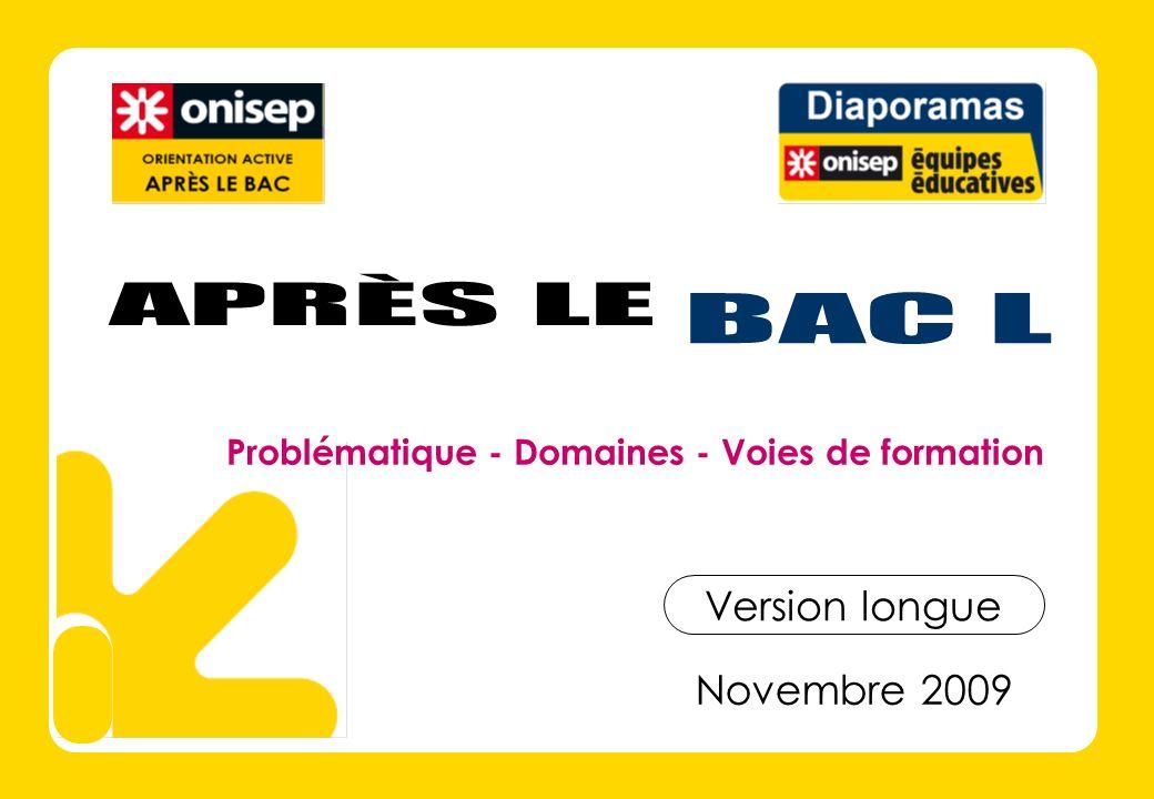 DOMAINES PROFESSIONNELS Après le Bac L Choisir un domaine Licences ARTS & CULTURE A consulter