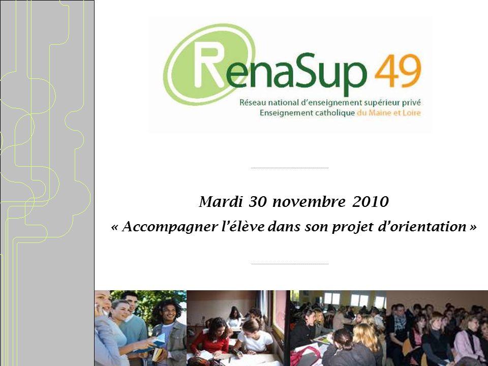 Mardi 30 novembre 2010 « Accompagner lélève dans son projet dorientation »