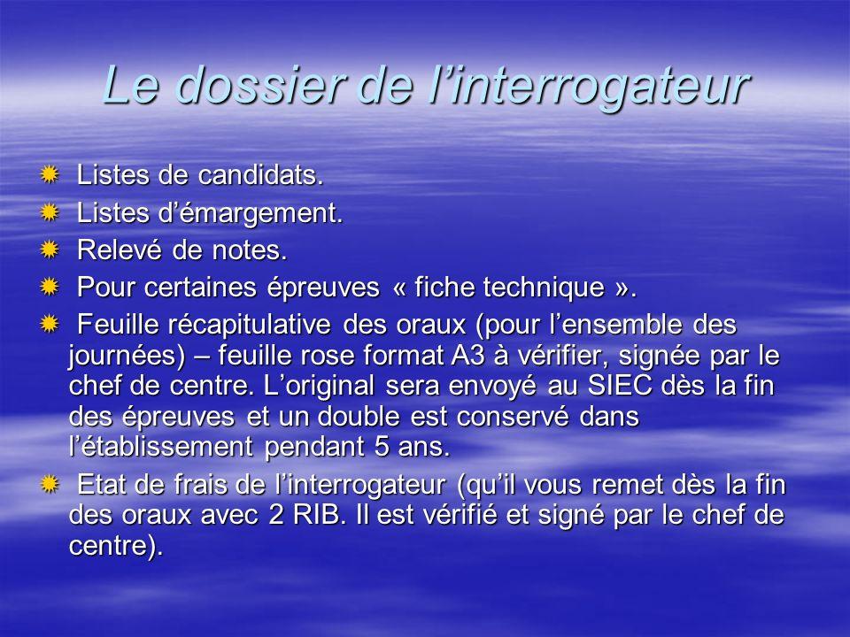 Les écrits Les envois du SIEC.Les envois du SIEC.