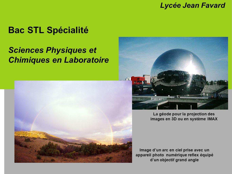 Bac STL Spécialité Sciences Physiques et Chimiques en Laboratoire Lycée Jean Favard Image dun arc en ciel prise avec un appareil photo numérique refle