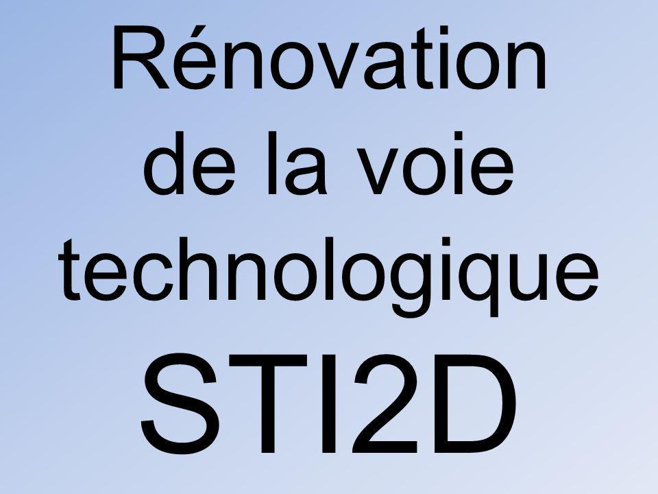 Rénovation de la voie technologique STI2D