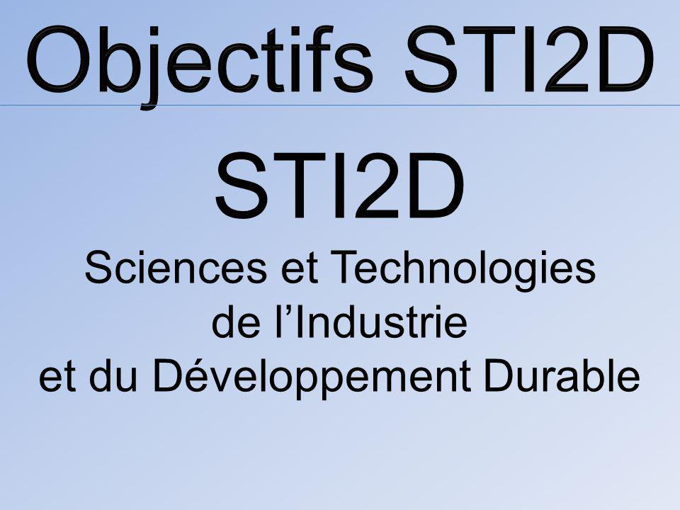STI2D Sciences et Technologies de lIndustrie et du Développement Durable