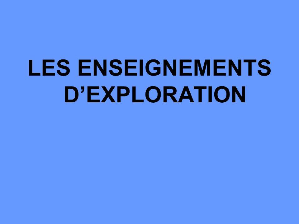 LES ENSEIGNEMENTS DEXPLORATION