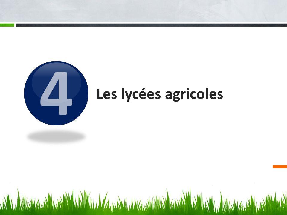 4 Les lycées agricoles
