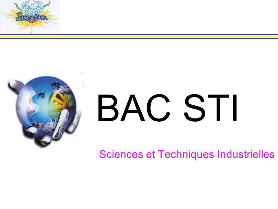 BAC STI Sciences et Techniques Industrielles